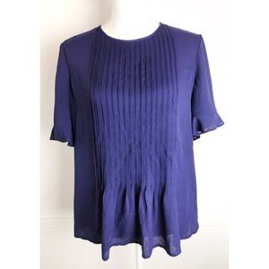 The Limited • Blue Pleated Blouse